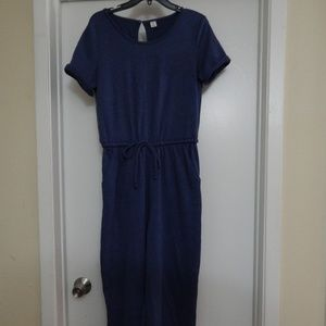 Old Navy Size M Blue Knit Jumpsuit Pre-owned